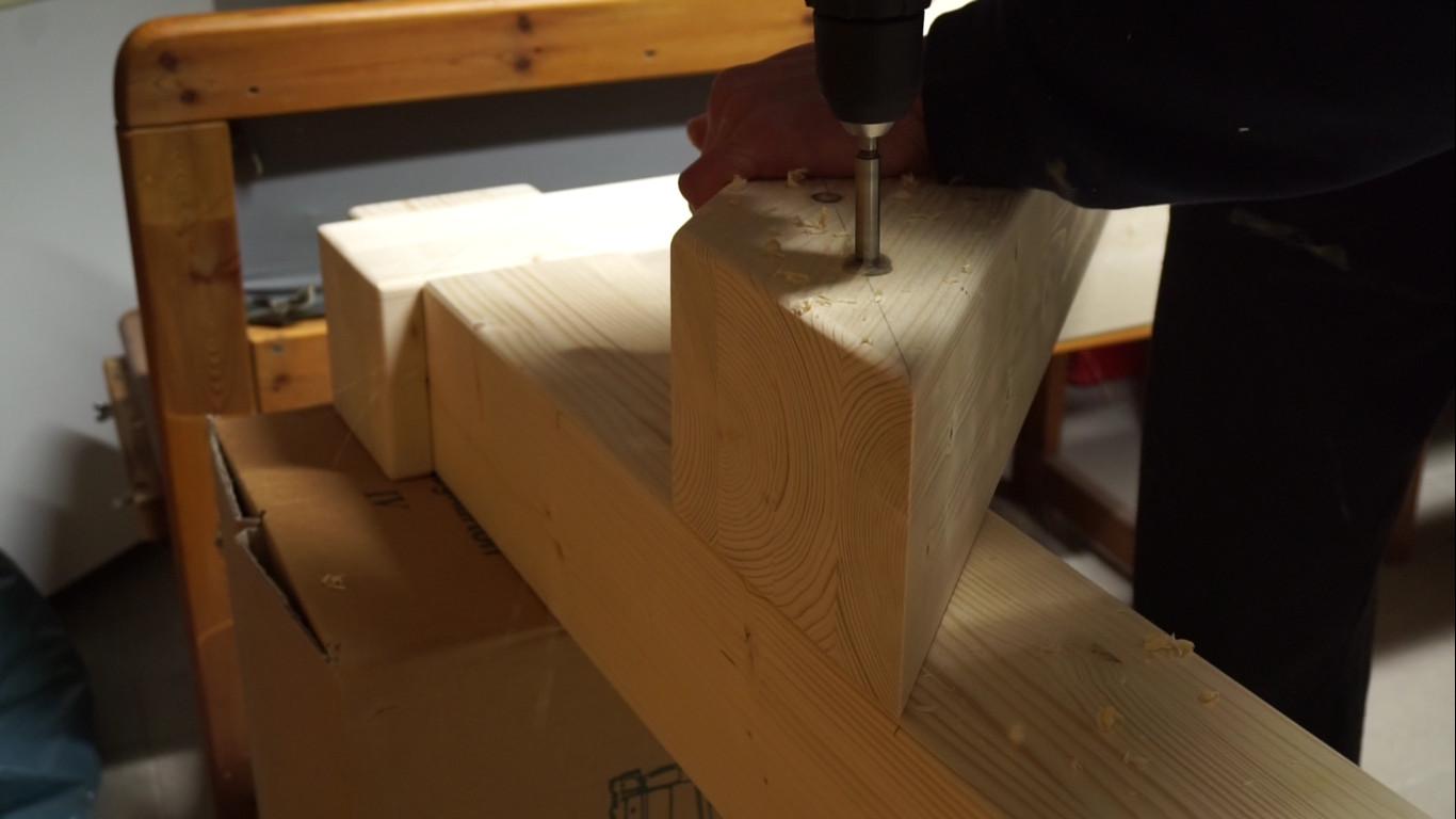 Bett aus Brettschichtholz bauen - Teil 1 - Das Bettgestell