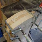 Nacken von Holzpferdekopf