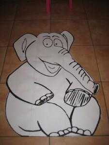 Elefant-Starschnitt