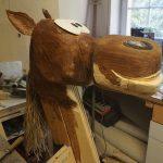 Pferdekopf mit neuer Lippe
