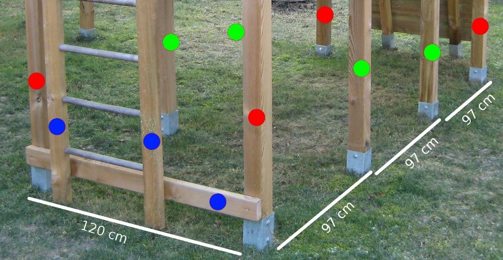 Klettergerüst Holz Selber Bauen : Bauanleitung für ein klettergerüst mit wackelbrücke