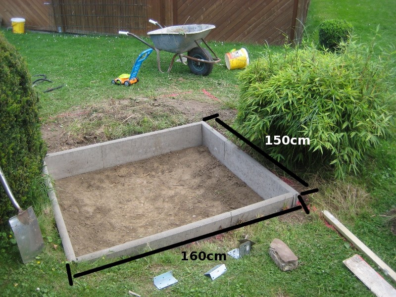 Geliebte Meine Bauanleitung vom Teich zu einem Sandkasten @TW_71
